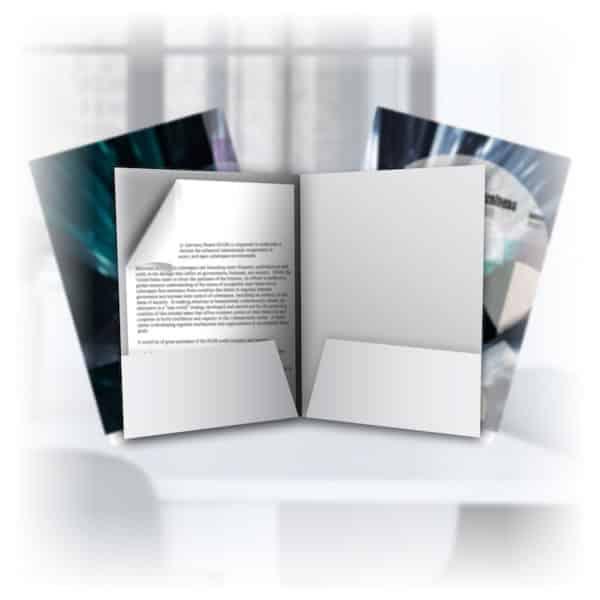 Suede Pocket Folders